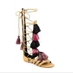 Size 6.5 Rebecca Minkoff Tassel Gladiator Sandal